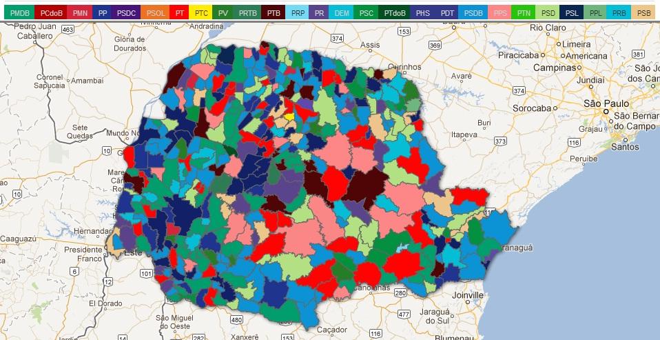 O novo mapa político do Paraná