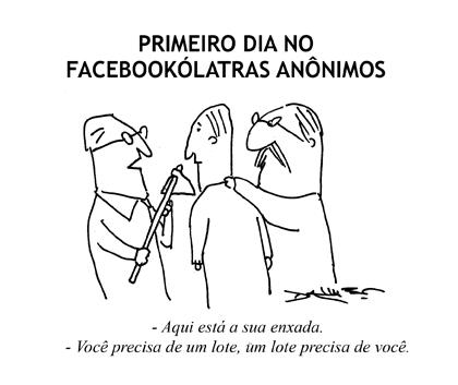 Facebookólatras - por André Dahmer