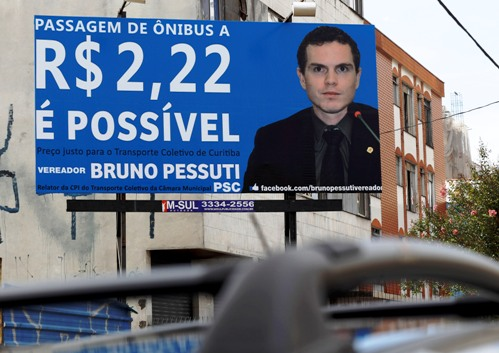 Bruno Pessuti defende tarifa de R$ 2,22 e pressiona Fruet