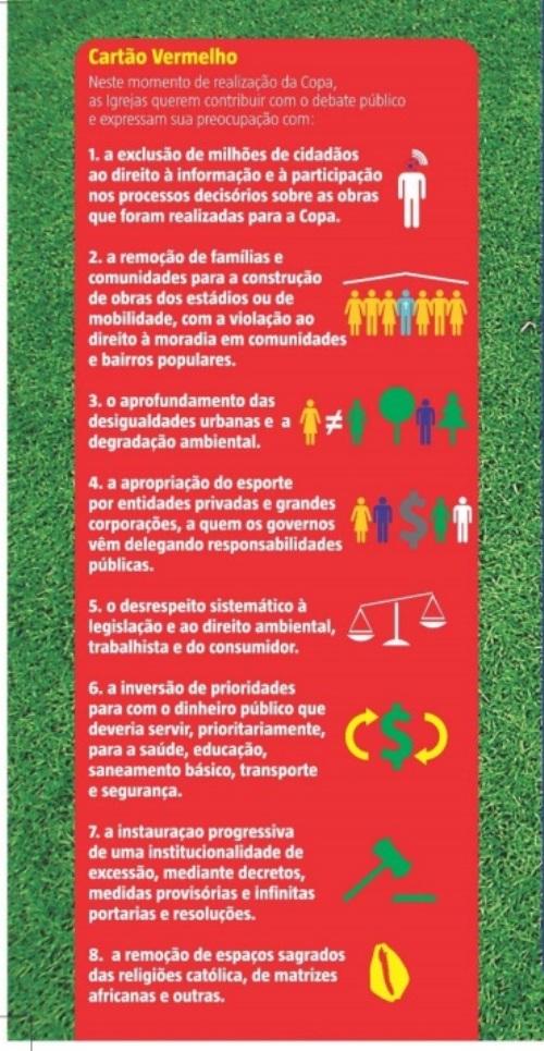 CNBB lança panfleto com críticas à Copa