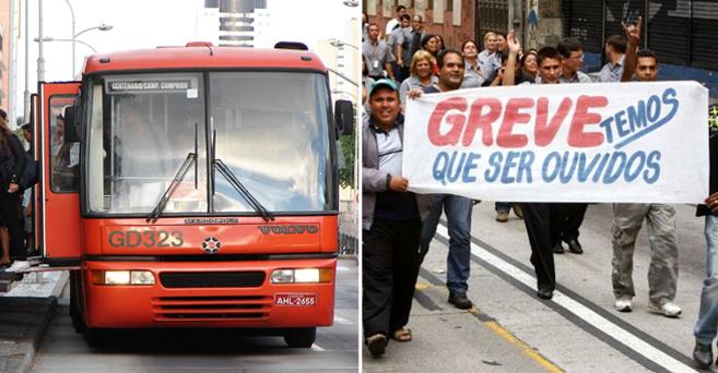 0601 greve curitiba onibus transporte publico pagamento motoristas cobradores