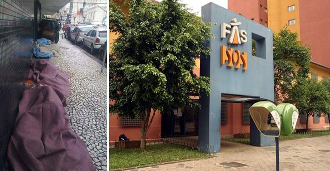 Prefeitura fecha 230 vagas de albergue para moradores de rua no Centro de Curitiba