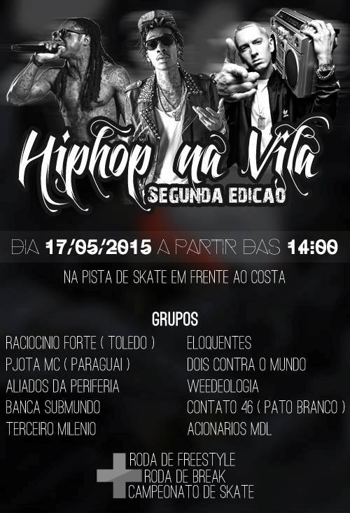 flyer encontro hip hop