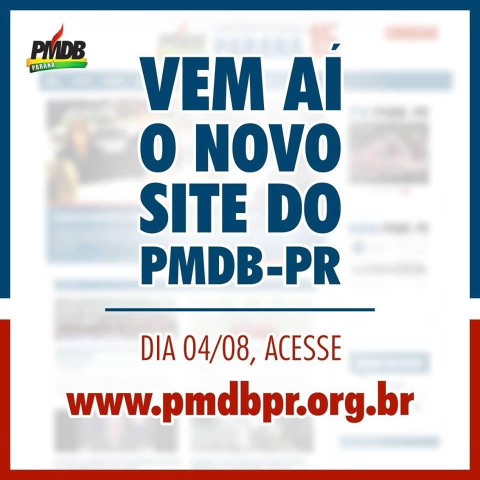 PMDB-PR prepara novo site