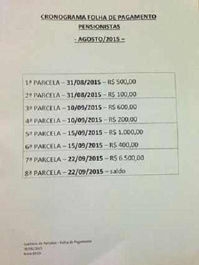 3008 pagamento salarios rs