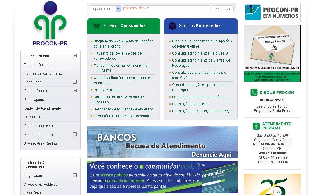 Procon-PR vai registrar denúncia contra bancos