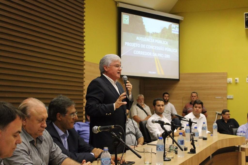 Transparência é alavanca do debate sobre a concessão da PRC-280, diz  Rossoni