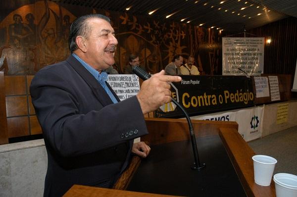Coordenador do forum contra o pedágio, Acir Mezzadri. Foto Everson Bressan-SECS