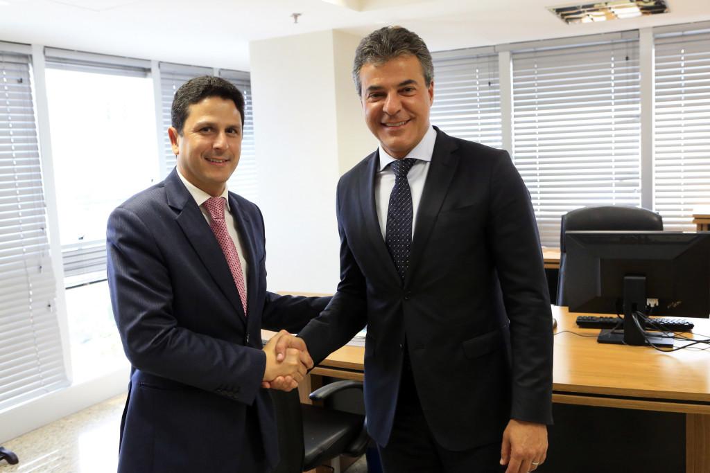 Governador Beto Richa se reúne com o ministro das cidades, Bruno Araújo. Brasília, 15/03/2017 Foto: Rafael da Luz Vicente