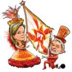 Gleisi vê apoio ao PT em música e comete gafe no carnaval