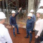 Michele Caputo vistoria obras do hospital regional de Ivaiporã