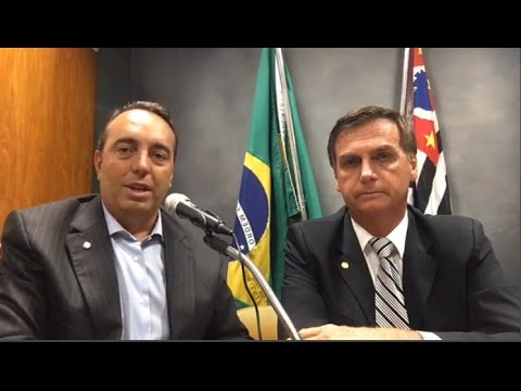 Bolsonaro e Francischini no PSL