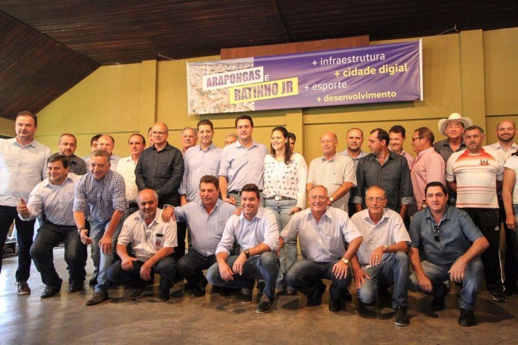 Ratinho Junior recebe apoio de mais de 30 prefeitos da Amuvi e Amepar