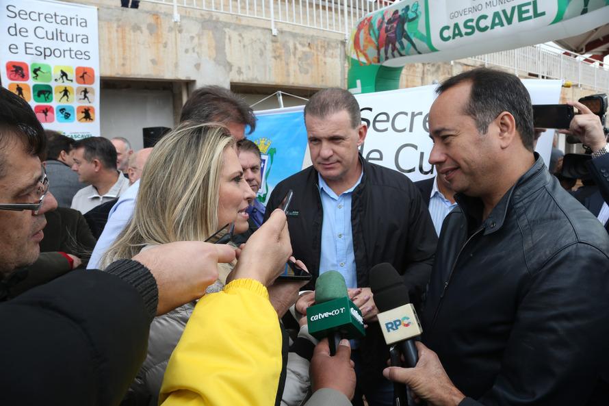 Ministro do Esporte e governadora Cida garantem a conclusão das obras do CNTA em Cascavel
