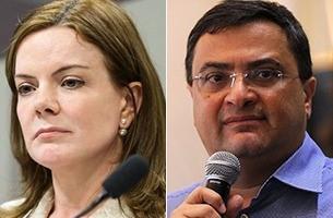 Justiça não encontra dinheiro nas contas de Gleisi que deve R$ 162 mil para Michele Caputo