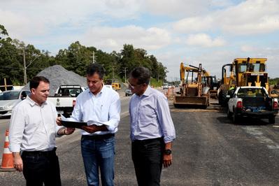 Beto Richa destaca entrega de viaduto da Rodovia João Leopoldo Jacomel em Pinhais