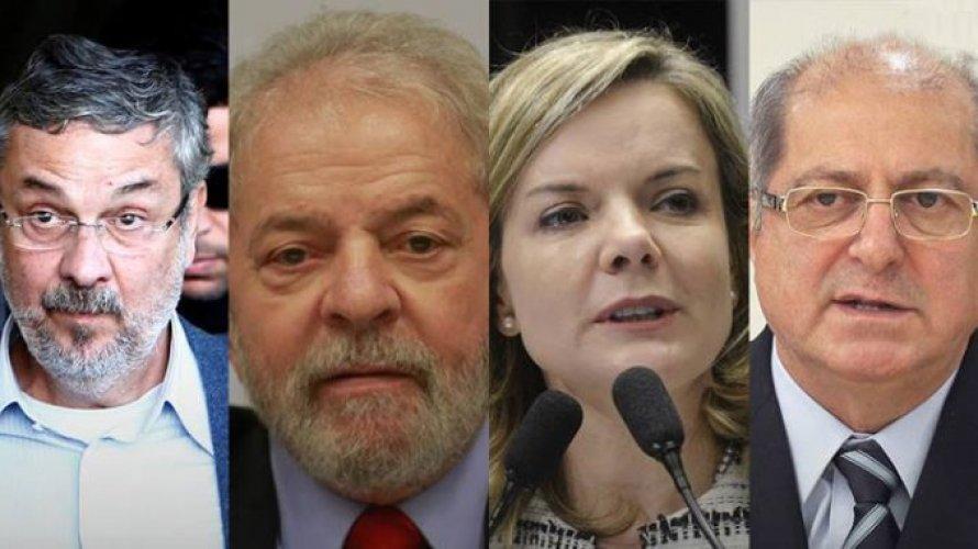 Assista no Jornal Nacional: PGR denuncia Lula, Palocci, Gleisi e Paulo Bernardo por corrupção