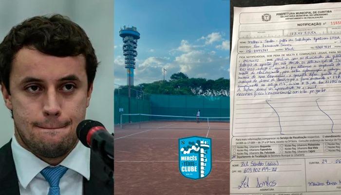Procurador do Ministério Público Federal, Diogo é um dos sócios da Mercês Clube de Tênis, academia em um bairro de classe média alta em Curitiba.